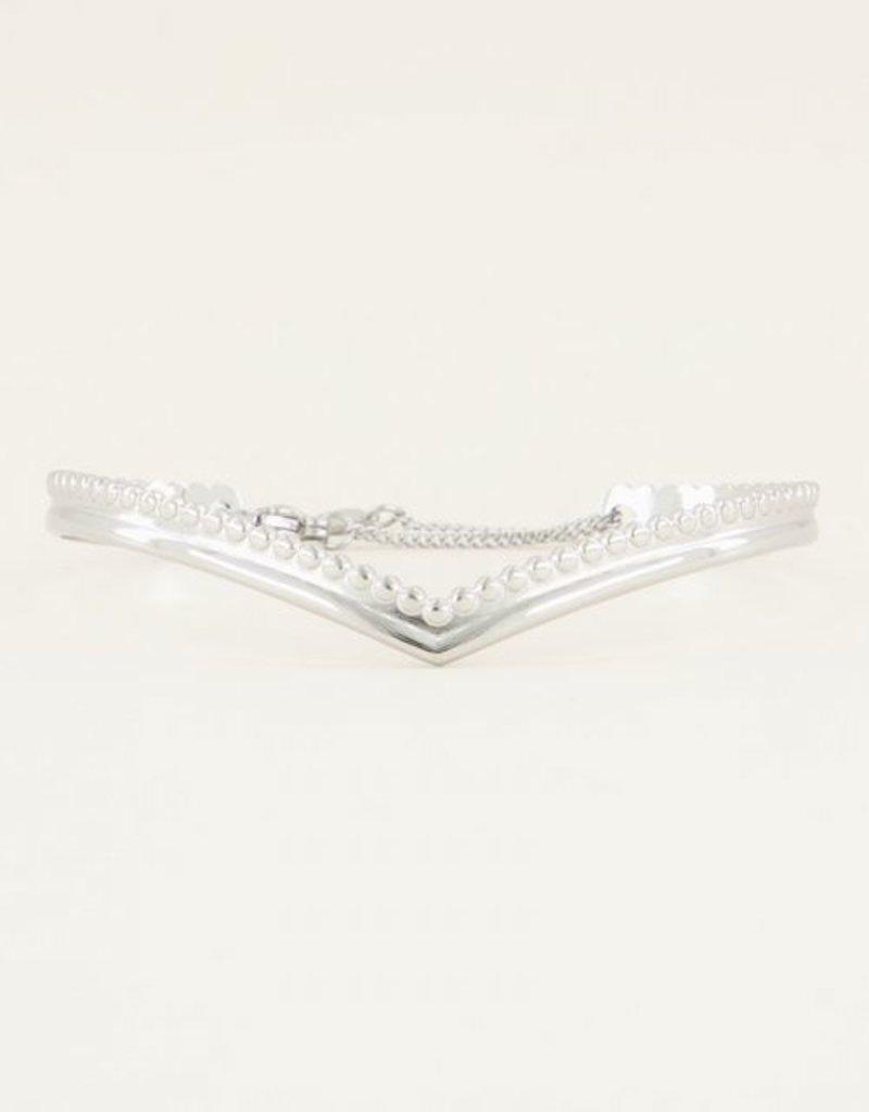 My Jewellery Bangle v-vorm Zilver ONESIZE