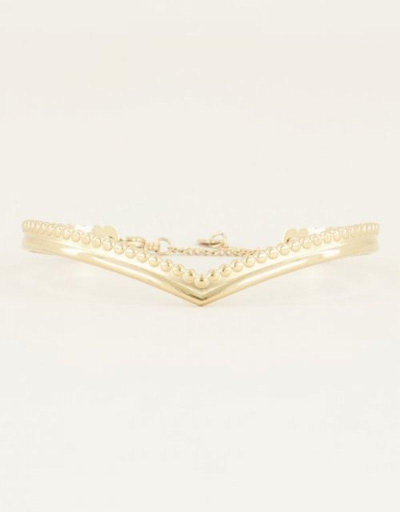 My Jewellery Bangle v-vorm Goud ONESIZE