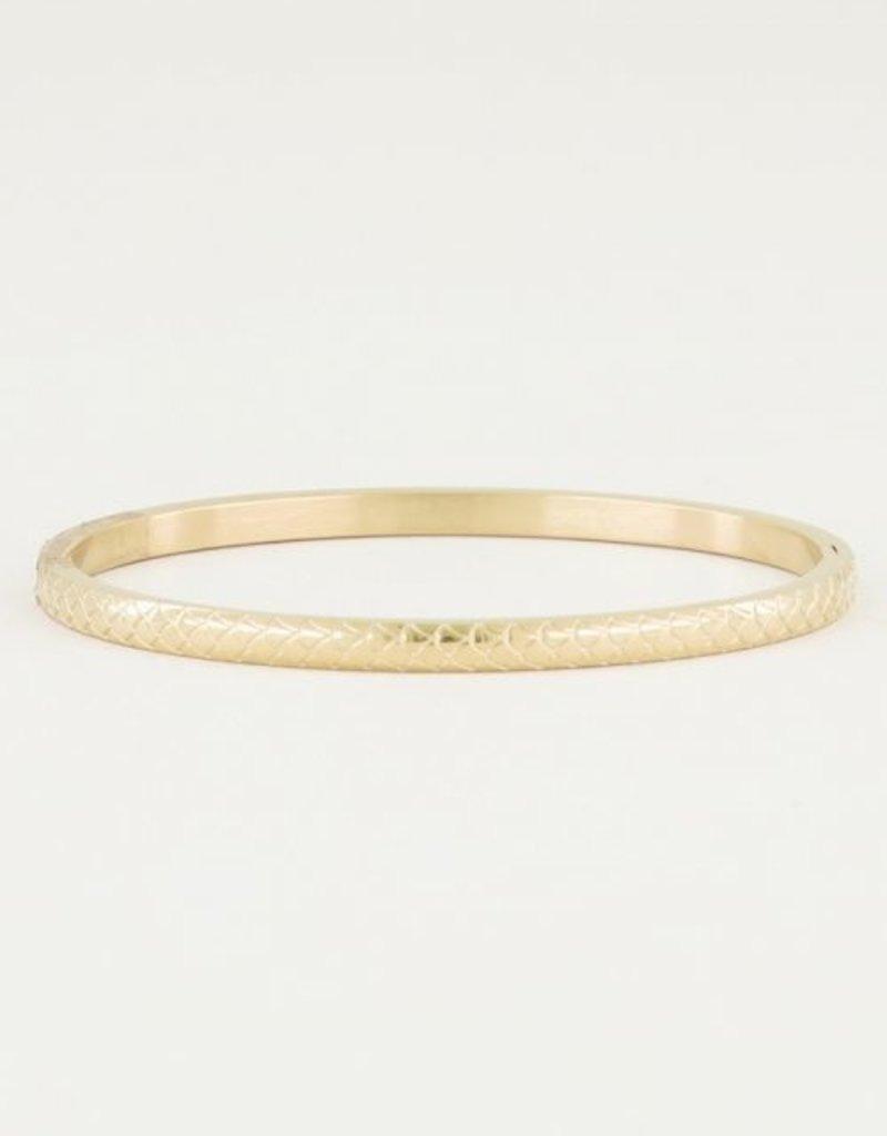 My Jewellery Bangle Schubben Smal Goud ONESIZE