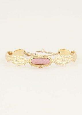 My Jewellery Bangle roze steen Goud ONESIZE