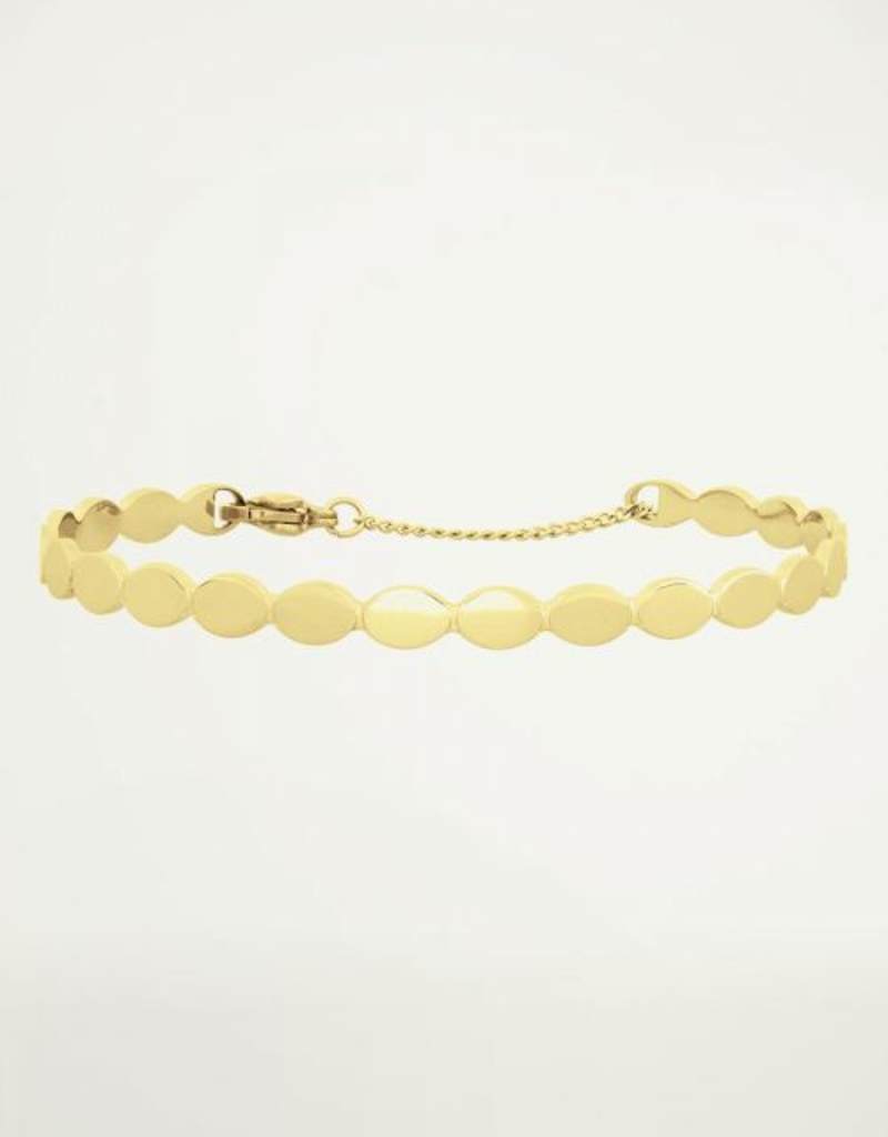 My Jewellery Bangle met ovaaltjes Goud ONESIZE