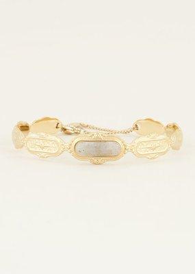 My Jewellery Bangle met grijze steen Goud ONESIZE
