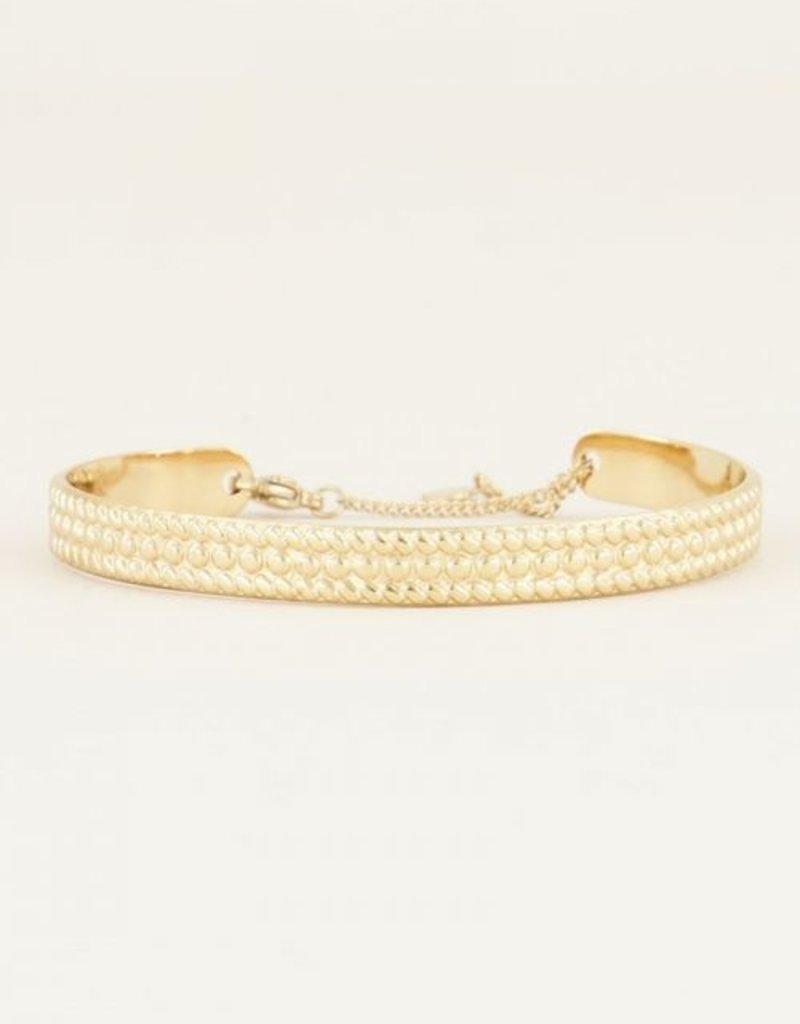My Jewellery Bangle met bolletjes Goud ONESIZE