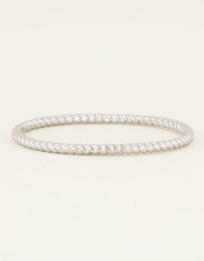 My Jewellery Bangle gedraaid Zilver ONESIZE