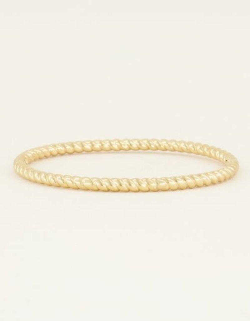 My Jewellery Bangle gedraaid Goud ONESIZE