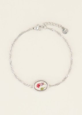 My Jewellery Armband wildflower ovaal Zilver ONESIZE