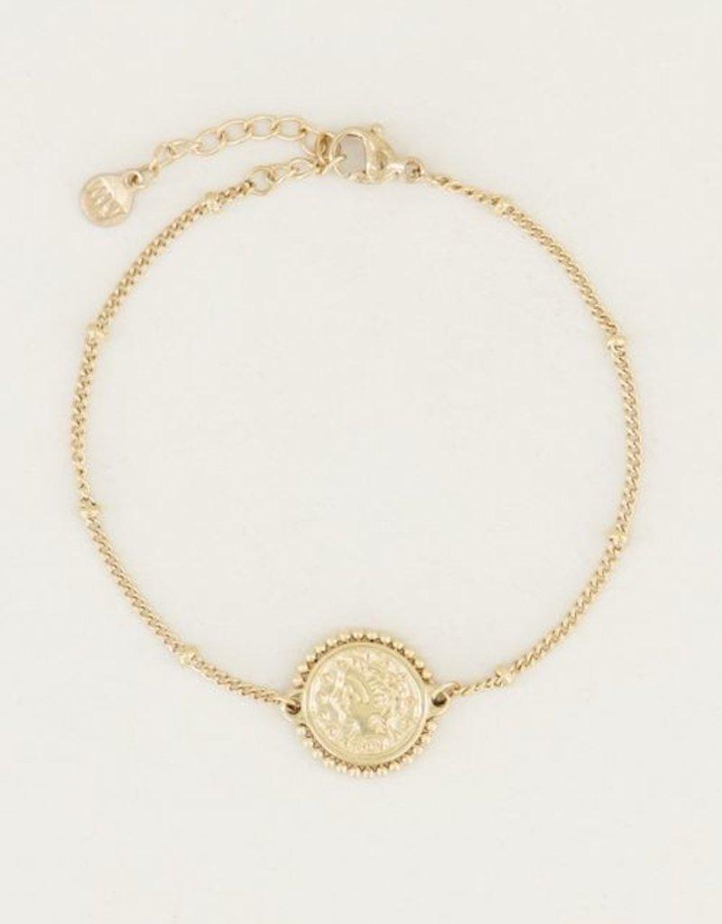 My Jewellery Armband vintage muntje Goud ONESIZE