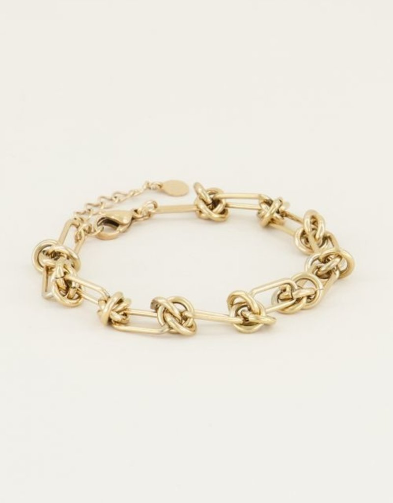 My Jewellery Armband met knoopjes Goud ONESIZE