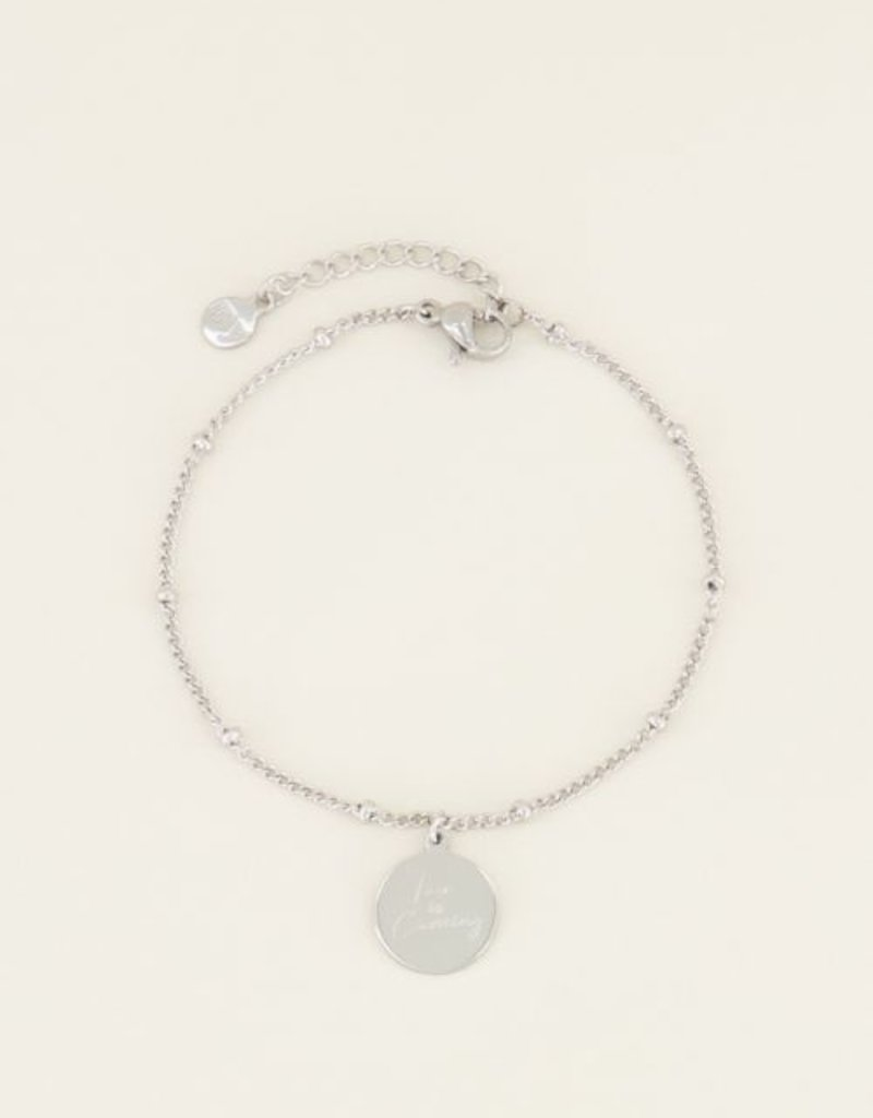 My Jewellery Armband love is coming Zilver ONESIZE