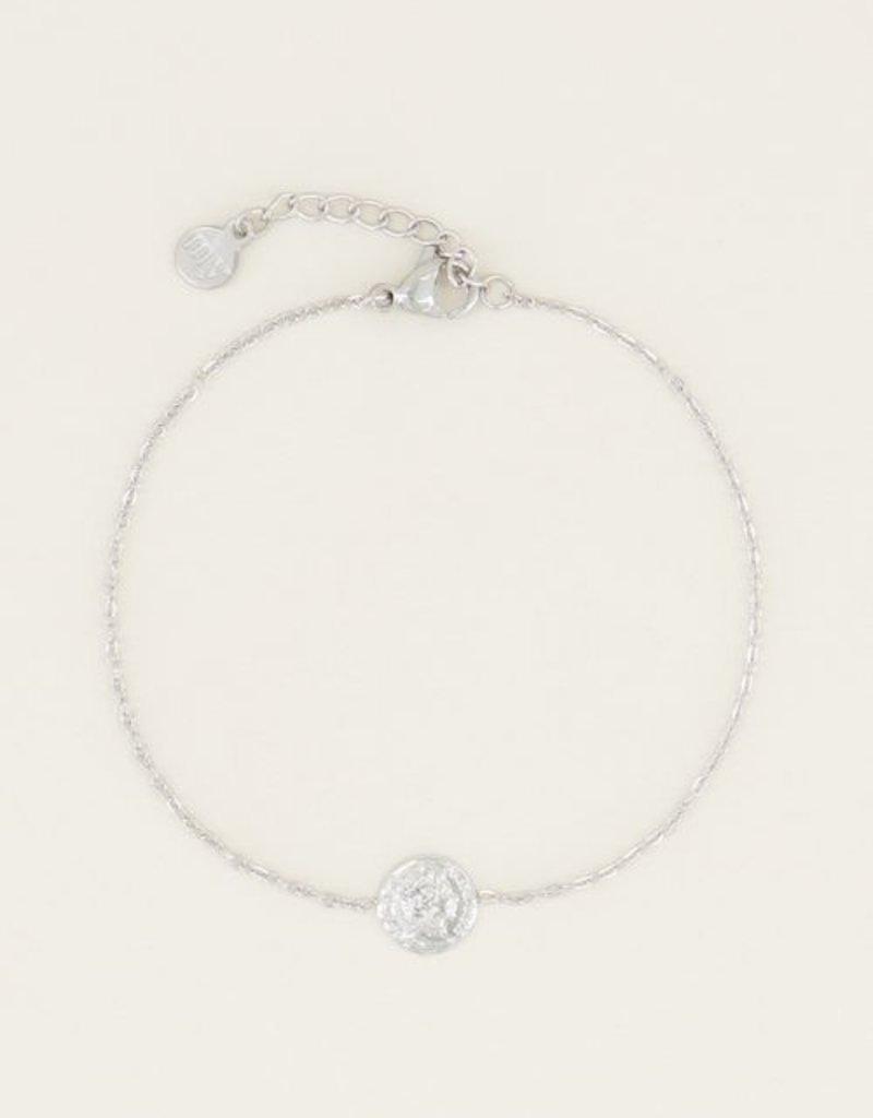 My Jewellery Armband klein muntje Zilver ONESIZE