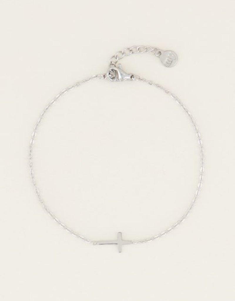 My Jewellery Armband klein kruisje Zilver ONESIZE