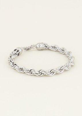 My Jewellery Armband gedraaide schakels Zilver ONESIZE