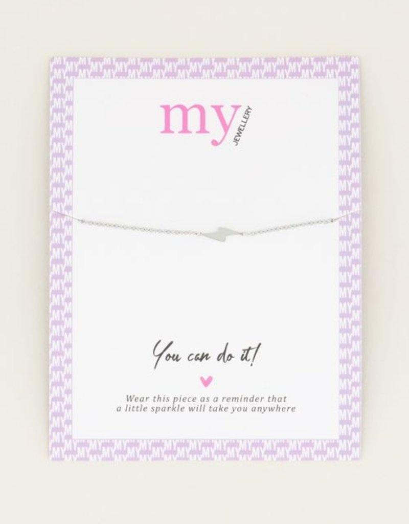 My Jewellery Armband bliksem Zilver ONESIZE