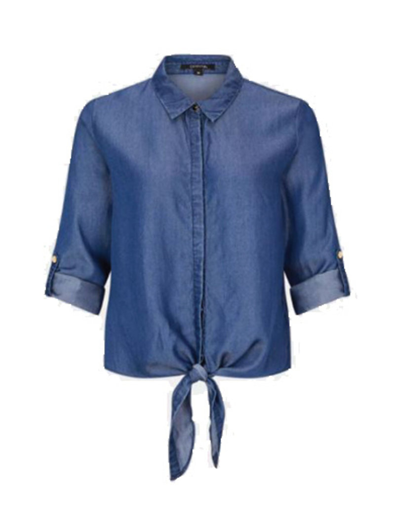 Comma Denim L/S Blouse lyocell