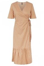Pieces PCTanna SS wrap midi dress