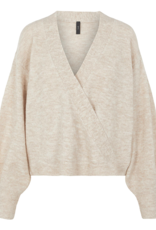 Y.A.S Yasagate LS wrap knit pullover, 26023571
