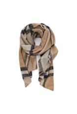 Pieces PCPyron checked long scarf