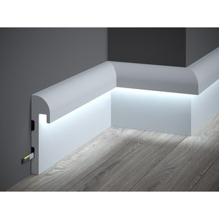 Skirting LED QL015 (148 x 42 mm), length 2 m