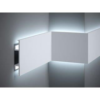 Plint LED QL020 (150 x 25 mm), lengte 2 m