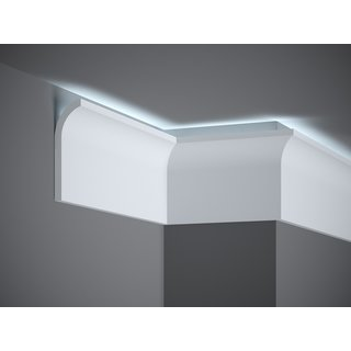 Skirting QS011 LED (135 x 40 mm), length 2 m