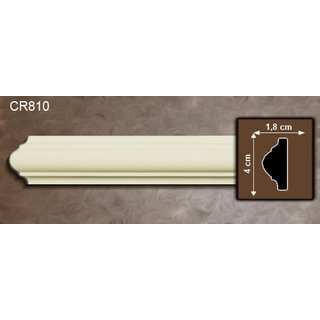 Kaderlijst CR810 (40 x 18 mm), polyurethaan, lengte 2 m (Z10)