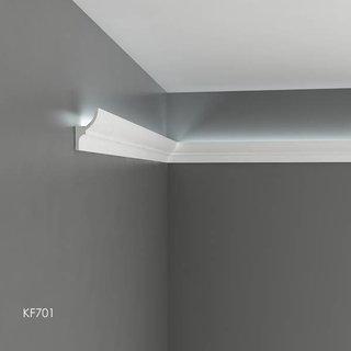KF701 (70 x 40 mm), lengte 2 m, PU - LED sierlijst voor indirecte verlichting