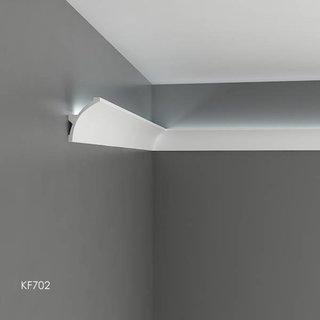 KF702 (80 x 60 mm), lengte 2 m, PU - LED sierlijst voor indirecte verlichting