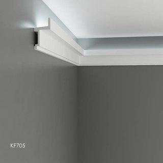 KF705 (111 x 60 mm), lengte 2 m, PU - LED sierlijst voor indirecte verlichting