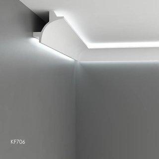 KF706 (115 x 115 mm), lengte 2 m, PU - LED sierlijst voor indirecte verlichting