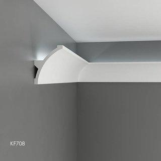 KF708 (140 x 106 mm), lengte 2 m, PU - LED sierlijst voor indirecte verlichting