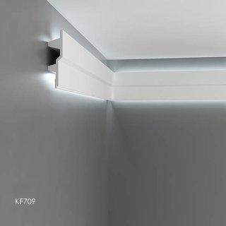 KF709 (150 x 40 mm), lengte 2 m, PU - LED sierlijst voor indirecte verlichting,