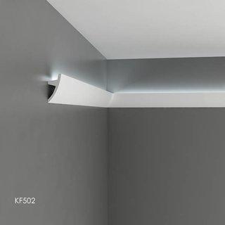 KF502 (75 x 36 mm), lengte 2 m, PU - LED sierlijst voor indirecte verlichting