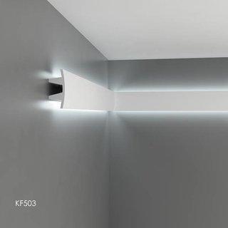 KF503 (100 x 45 mm), lengte 2 m, PU - LED sierlijst voor indirecte verlichting