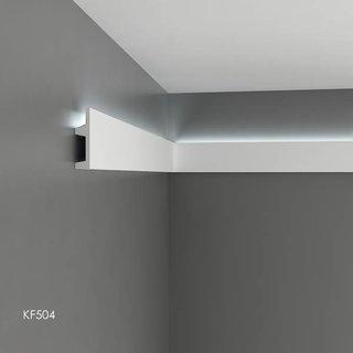 KF504 (102 x 25 mm), lengte 2 m, PU - LED sierlijst voor indirecte verlichting
