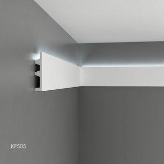 KF505 (142 x 25 mm), lengte 2 m, PU - LED sierlijst voor indirecte verlichting