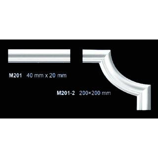 M201-2 hoekbochten (200 x 200 mm), polyurethaan, set (4 hoeken)