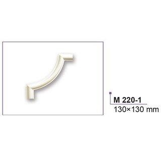 M220-1 hoekbochten (130 x 130 mm), polyurethaan, set (4 hoeken)