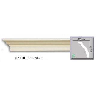 Kroonlijst K1210 (52 x 52 mm), polyurethaan, lengte 2 m