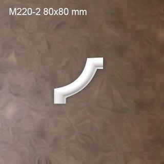 M220-2 hoekbochten (80 x 80 mm), polyurethaan, set (4 hoeken)