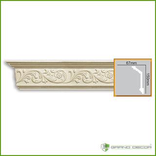 Kroonlijst C763 (150 x 67 mm), polyurethaan, lengte 2 m