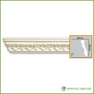 Kroonlijst C747 (64 x 30 mm), polyurethaan, lengte 2 m