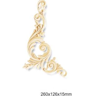 Ornament A611 L (260 x 126 x 15 mm), polyurethaan