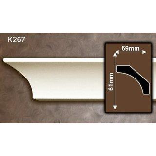 Plafondlijst K267 (61 x 69 mm), polyurethaan, lengte 2 m