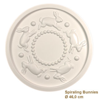 Rozet kinderkamer SPIRALING BUNNIES diameter 46,0 cm