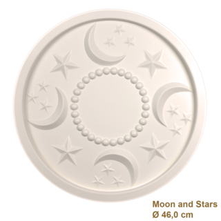 Rozet kinderkamer MOON AND STARS diameter 46,0 cm