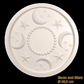 Rozet kinderkamer MOON AND STARS diameter 46,0 cm