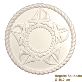 Rozet kinderkamer REGATTA SAILBOATS diameter 46,0 cm