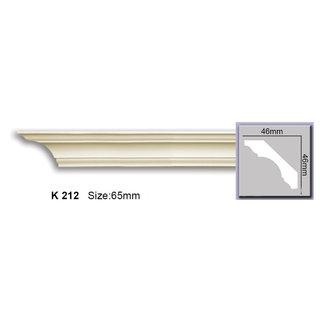 Kroonlijst K212 (46 x 46 mm), polyurethaan, lengte 2 m