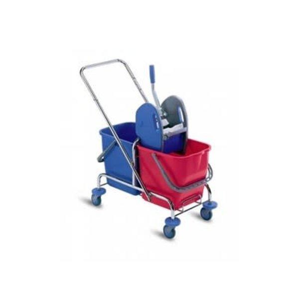 Wecoline Mopwagen Chroom 2x 15 liter
