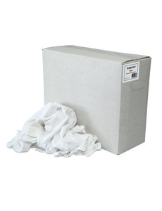Euro Products Poetslappen DWT – dunne witte tricot gesneden - 10 kg